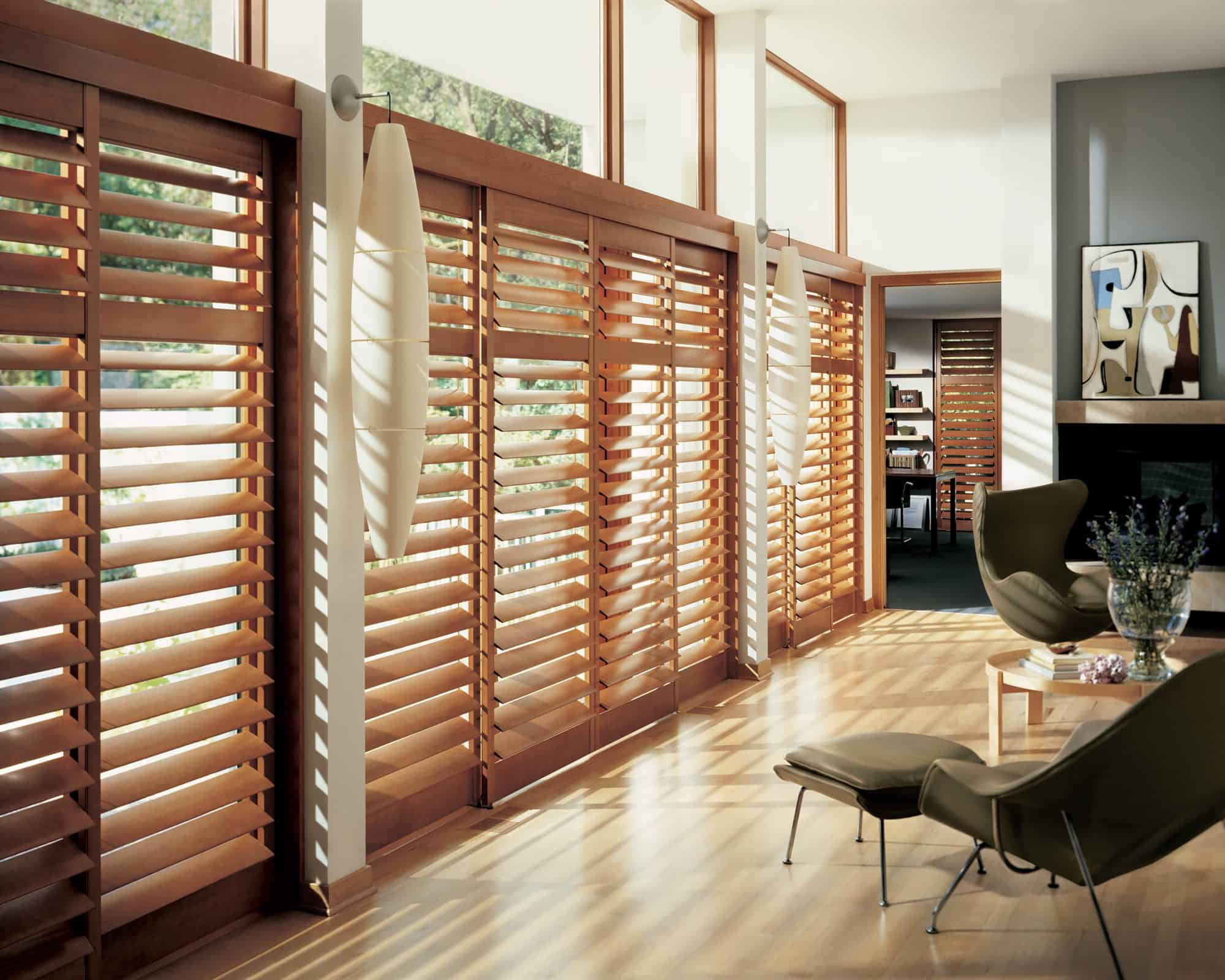 wood blinds full door
