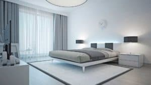modern bedroom window treatments