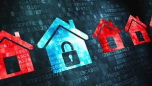 illustration of digital home security