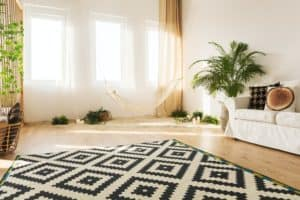 Eco room with pattern carpet