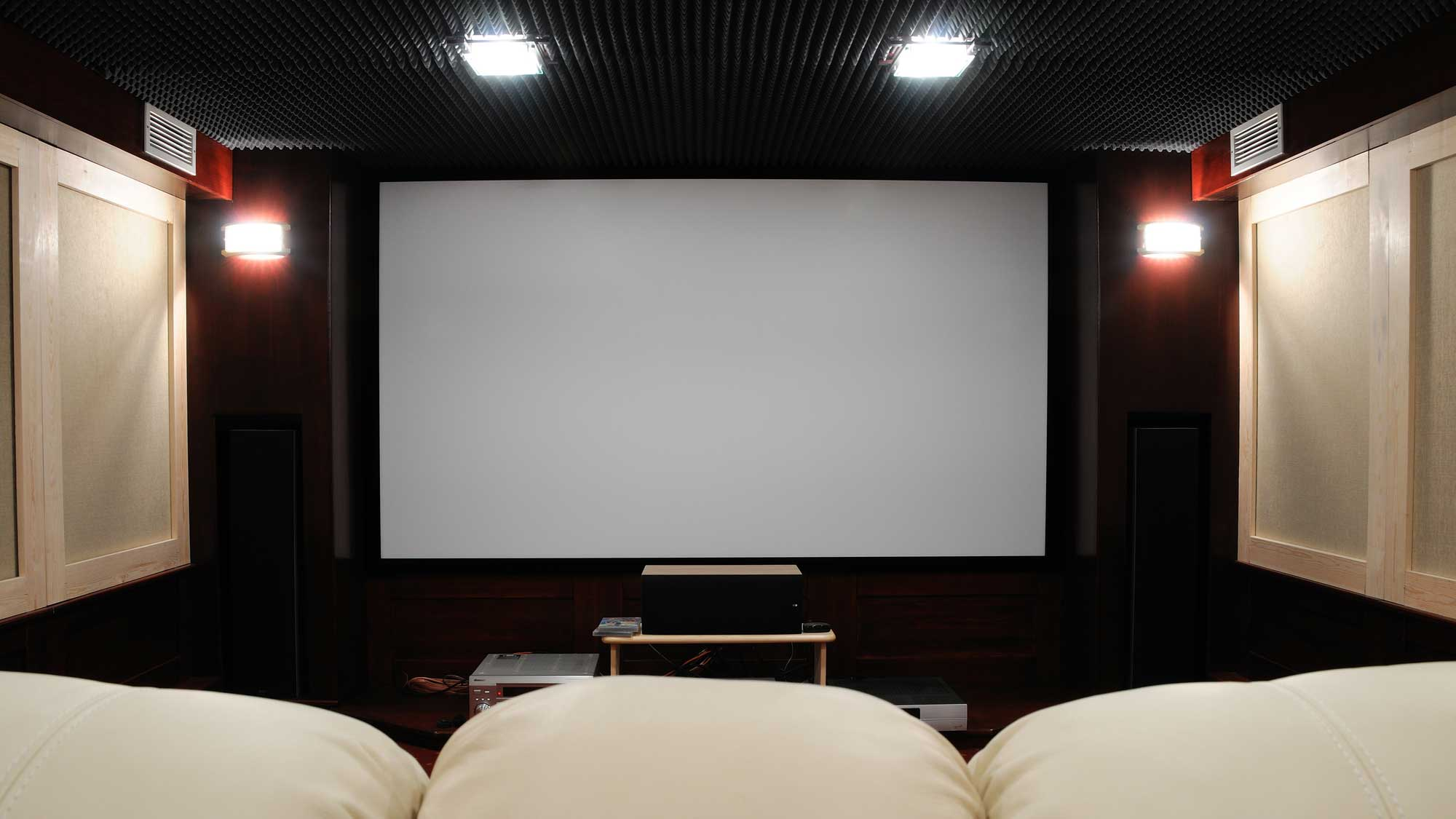 home theater with soundproof walls