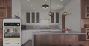 savant smart lights in kitchen