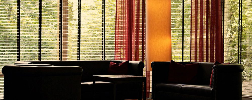 energy effifient window treatment in waiting room