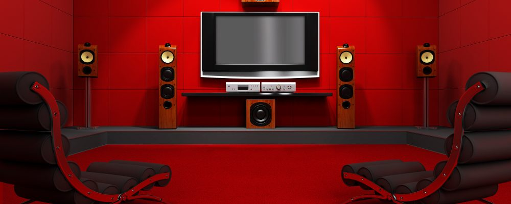 home theater with surround sound