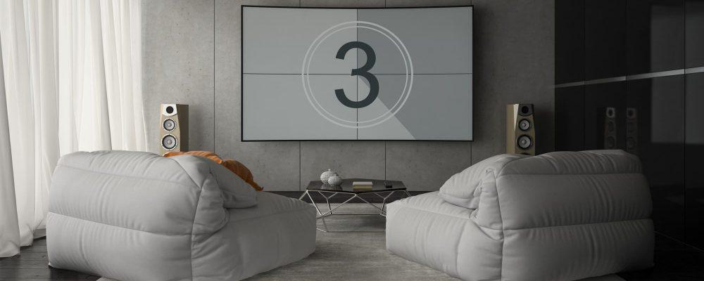 Interior of modern design room 3D rendering