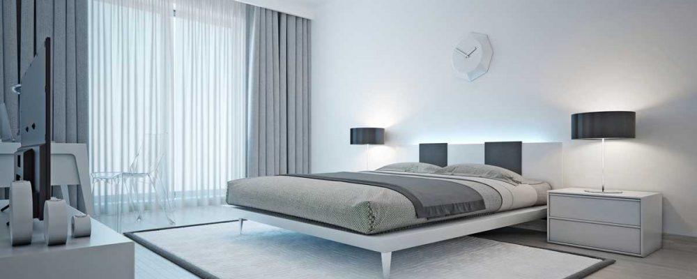 modern bedroom window treatments