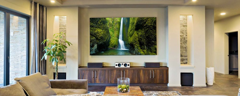 motorized blinds for a home theater