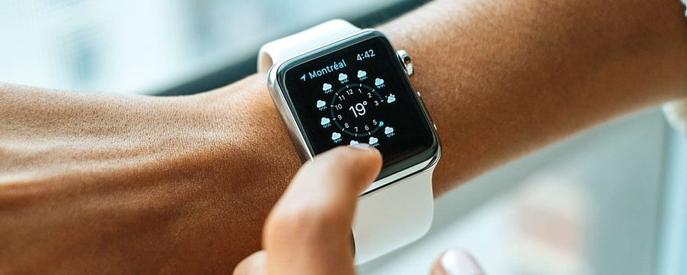 smart watch on person arm