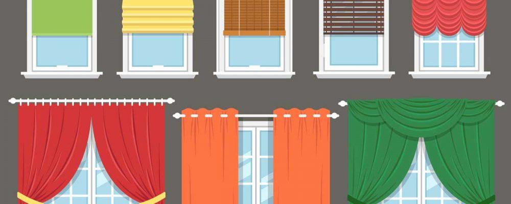 window treatment types illustration